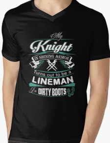 My Knight in Shining Armor Turns Out To Be a Lineman TShirt Hoodie Mug Mens V-Neck T-Shirt