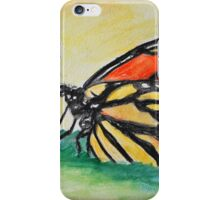 Butterfly on a leaf iPhone Case/Skin
