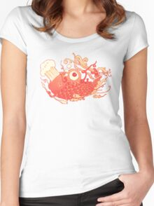 Japanese Red Carp Women's Fitted Scoop T-Shirt