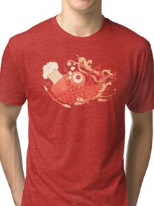 Japanese Red Carp Tri-blend T-Shirt