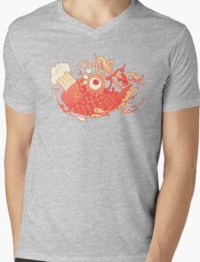 Japanese Red Carp Mens V-Neck T-Shirt