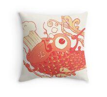 Japanese Red Carp Throw Pillow