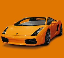 Orange Lamborghini by David Rodriguez Studio