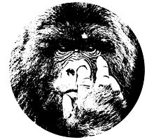 King kong monkey pick nose sticker t-shirt Photographic Print
