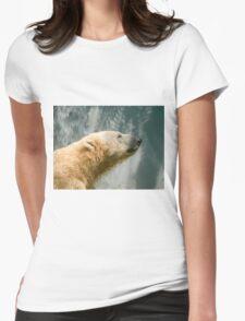 Polar Bear Showering Womens Fitted T-Shirt
