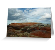 Colours Collide at the Bay of Fires Greeting Card