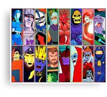 80s Totally Radical Cartoon Spectacular!!! ENTER THE VILLAINS! Canvas Print