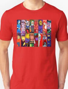 80s Totally Radical Cartoon Spectacular!!! ENTER THE VILLAINS! T-Shirt