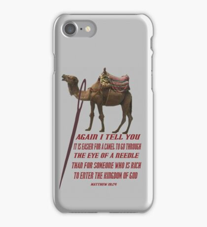 ☝ ☞ THE EYE OF A  NEEDLE ☞ BIBLICAL ☝ ☞ iPhone Case/Skin