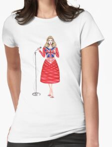 music doll singing Womens Fitted T-Shirt