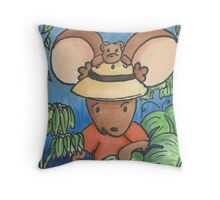 Be Brave and Explore Your World Throw Pillow