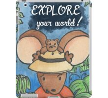 Be Brave and Explore Your World iPad Case/Skin