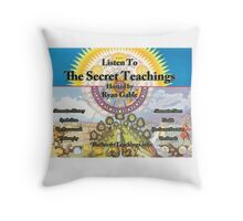 The Secret Teachings - Alchemical Logo (Poster & Stickers) Throw Pillow