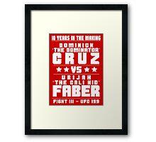Cruz vs Faber III Framed Print