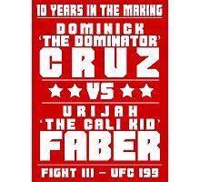 Cruz vs Faber III Photographic Print