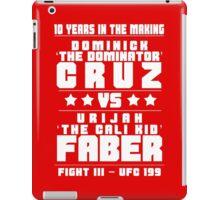 Cruz vs Faber III iPad Case/Skin