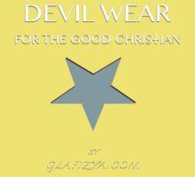 Devil Wear grey star Baby Tee