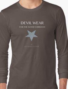 Devil Wear grey star Long Sleeve T-Shirt