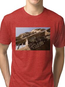 Wrought Iron, Glass and Stone Plus a Genius Imagination Tri-blend T-Shirt