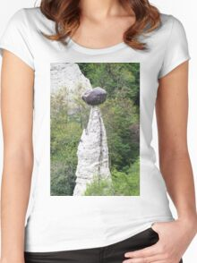 natural pyramids in the mountain Women's Fitted Scoop T-Shirt