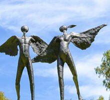 Sculpture - Angels Sticker