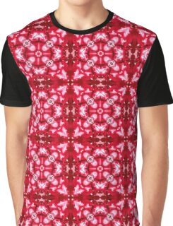 Red Snow/Flower Pattern Graphic T-Shirt