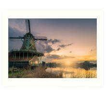 Dutch Windmills Art Print