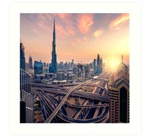 Dubai sunset Art Print