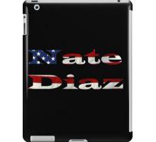 Nate Diaz- with the USA flag  iPad Case/Skin