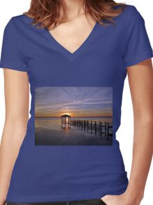 The true way to live is to enjoy every moment as it passes and surely it is in the everyday things around us that the beauty of life lies. Women's Fitted V-Neck T-Shirt