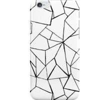 Web in white and black iPhone Case/Skin