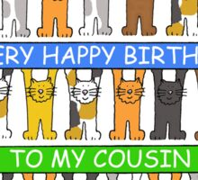 Happy Birthday Cousin Sticker