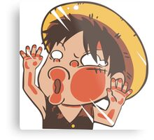 Luffy chibi Metal Print