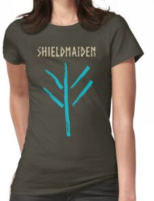 shieldmaiden -  symbol Womens Fitted T-Shirt