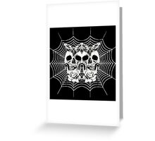 Skull-3 Skull- Spider Web Greeting Card