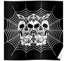 Skull-3 Skull- Spider Web Poster