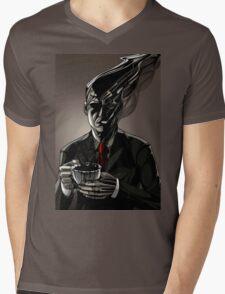 Coffee-man Mens V-Neck T-Shirt