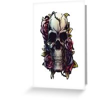 Skull- Rose- natural  Greeting Card