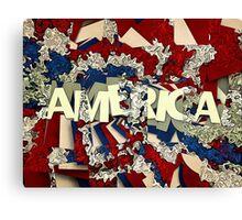 Abstract Patriotic America Canvas Print