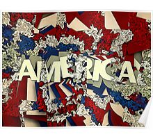 Abstract Patriotic America Poster
