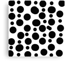 monochrome bubbles Canvas Print