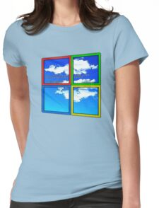 Blue Sky of Death Womens Fitted T-Shirt