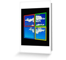 Blue Sky of Death Greeting Card