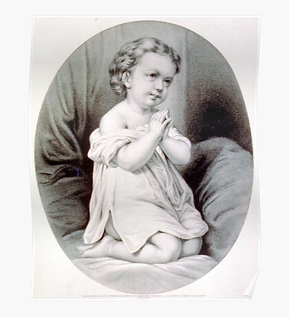 First prayer - 1870 - Currier & Ives Poster