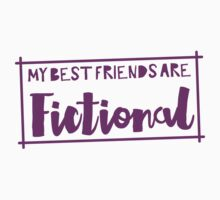 My best friends are fictional One Piece - Short Sleeve