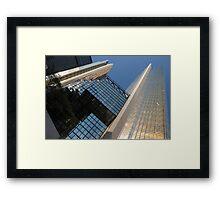 Gold, Black and Blue Geometry - Royal Bank Plaza Framed Print
