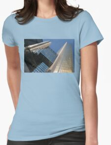 Gold, Black and Blue Geometry - Royal Bank Plaza Womens Fitted T-Shirt