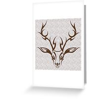Tribal Stag Greeting Card