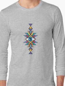ethnic psychedelic Long Sleeve T-Shirt