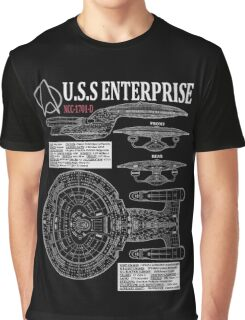 PICARDS ENTERPRISE NCC1701D  Graphic T-Shirt